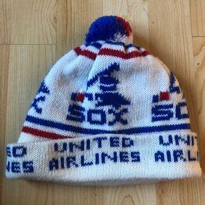 Vintage Red Sox knit pompom beanie hat